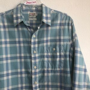 Faherty Checkered Button Down Flannel Shirt Small